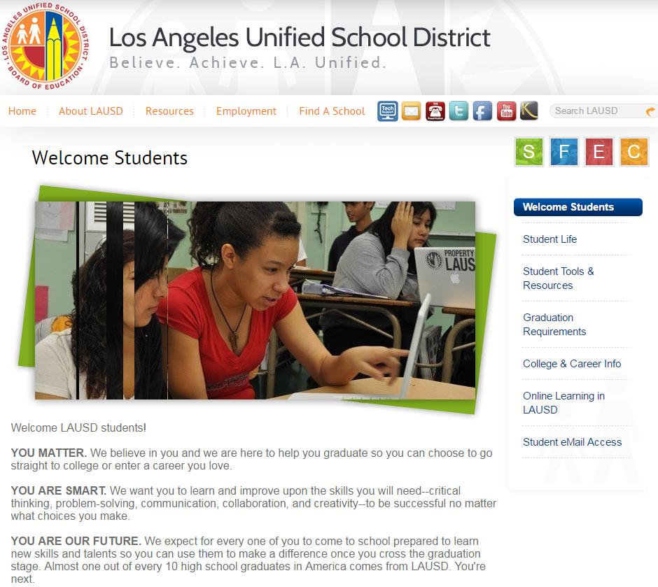 LAUSD Student Website.png